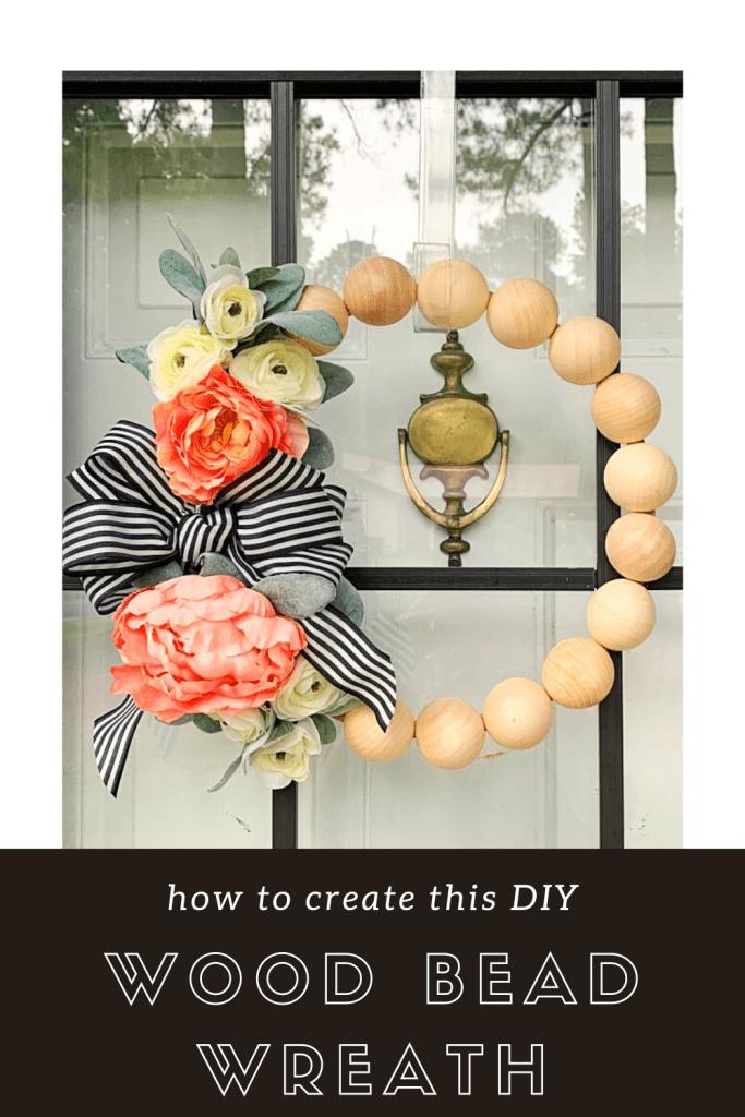 How to Create a DIY Wood Bead Wreath | Finding Mandee