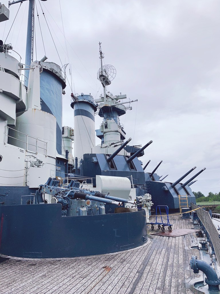 Our visit to the battleship in Wilmington.