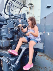 We loved that the guns on the USS North Carolina were interactive and not just static displays.