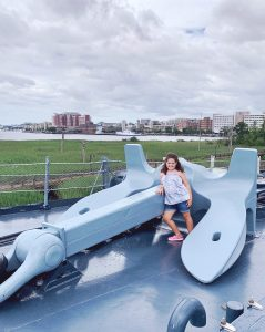 The USS North Carolina's anchor is enormous!