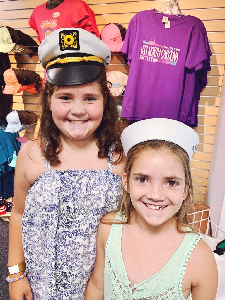In the gift shop at the USS North Carolina.