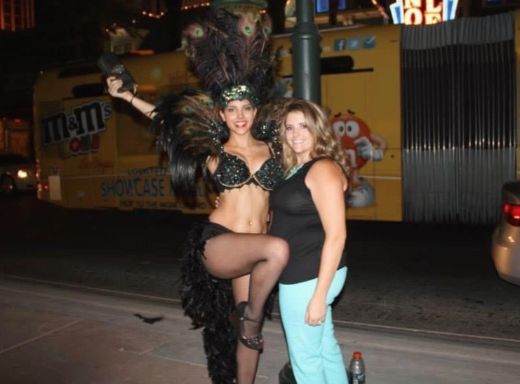 Tips are not optional for street performers in Sin City.