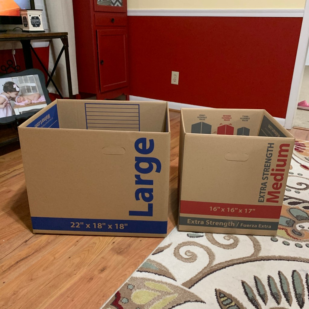 Boxes used for our Instagrammable moving announcement.