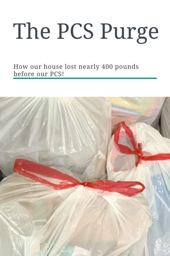 The PCS Purge: How Our HHG Shipment Weight Decreased by Almost 400 Pounds!