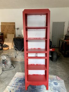 After removing the doors and drawer from our vintage cabinet.