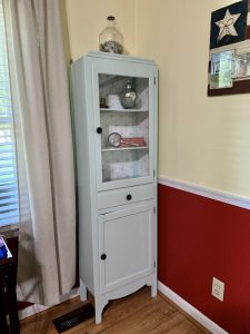 The after picture of our vintage medicine cabinet.