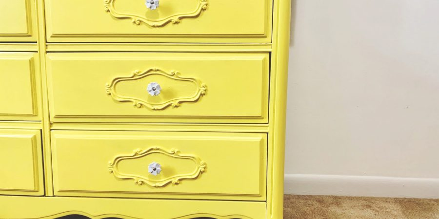 Flipping a French Provincial Dresser