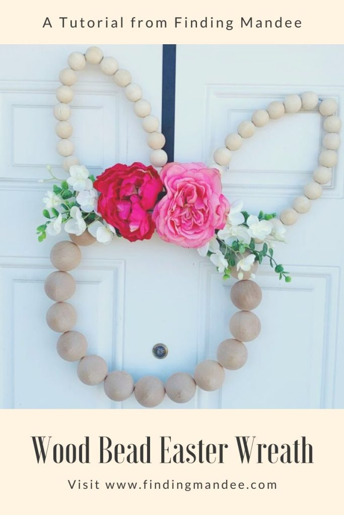 Wood Bead Easter Wreath: A Tutorial | Finding Mandee