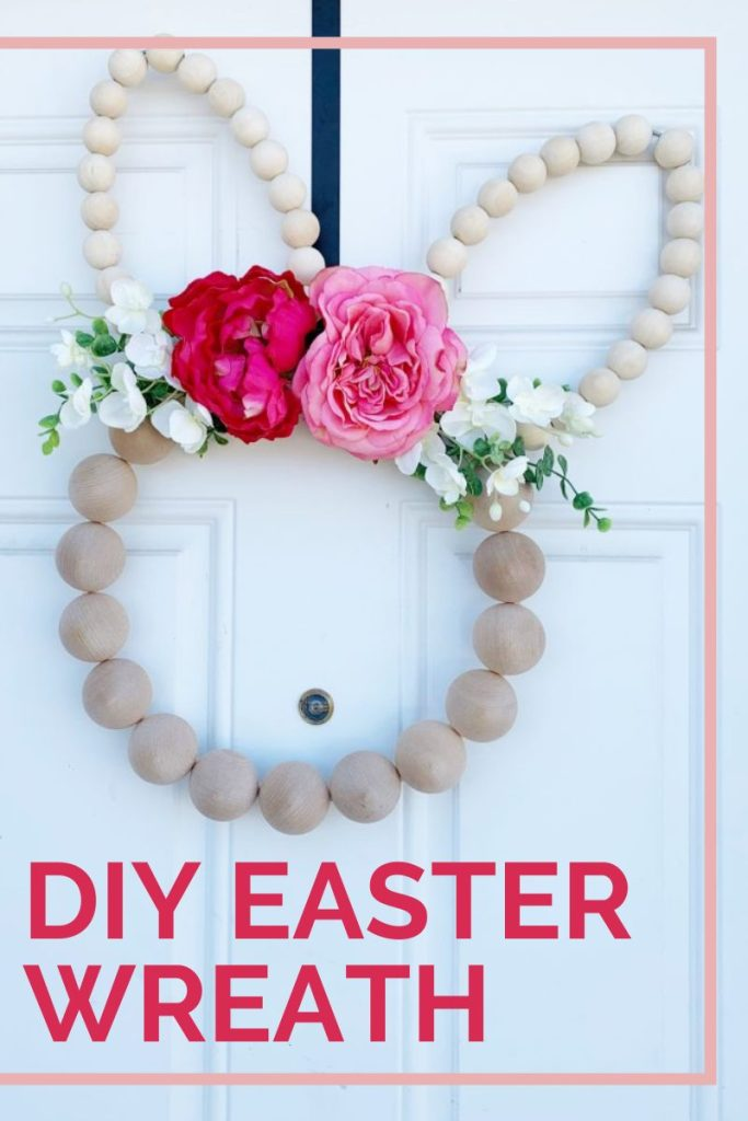 DIY Wood Bead Easter Wreath Tutorial   Finding Mandee