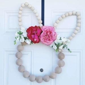 DIY Wood Bead Easter Wreath Tutorial | Finding Mandee