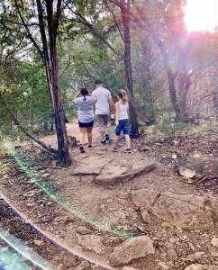 Fun family hike to Gorman Falls.