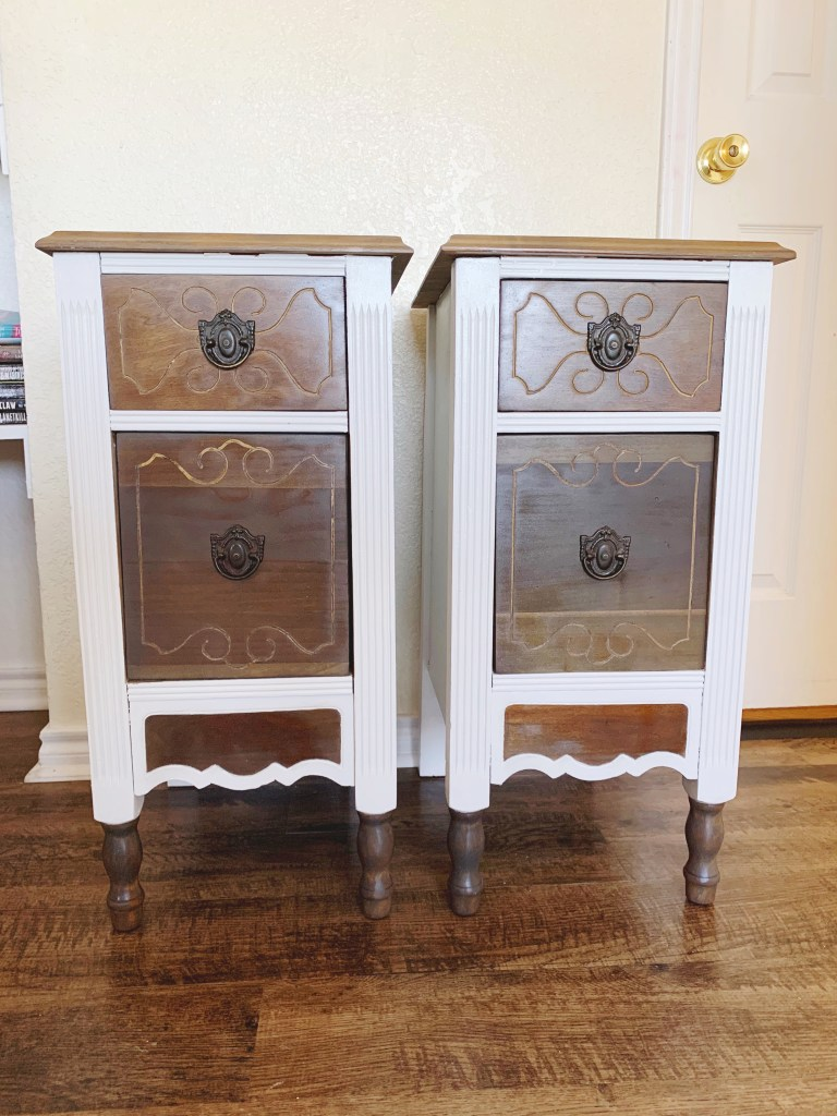 Our DIY nightstands all finished!