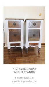DIY Farmhouse Nightstands: A Tutorial | Finding Mandee