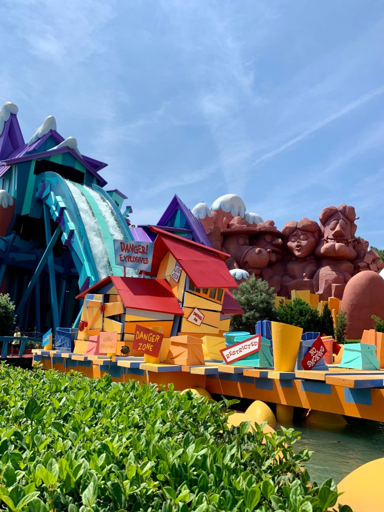 Dudley Do-Right Ripsaw Falls at Islands of Adventure theme park in Orlando.