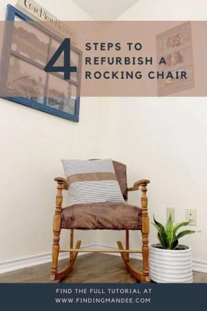 4 Step to Refurbishing an Antique Rocking Chair   Finding Mandee
