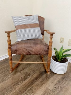 How to refurbish an antique rocking chair.