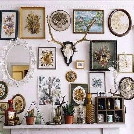 Boho gallery wall.