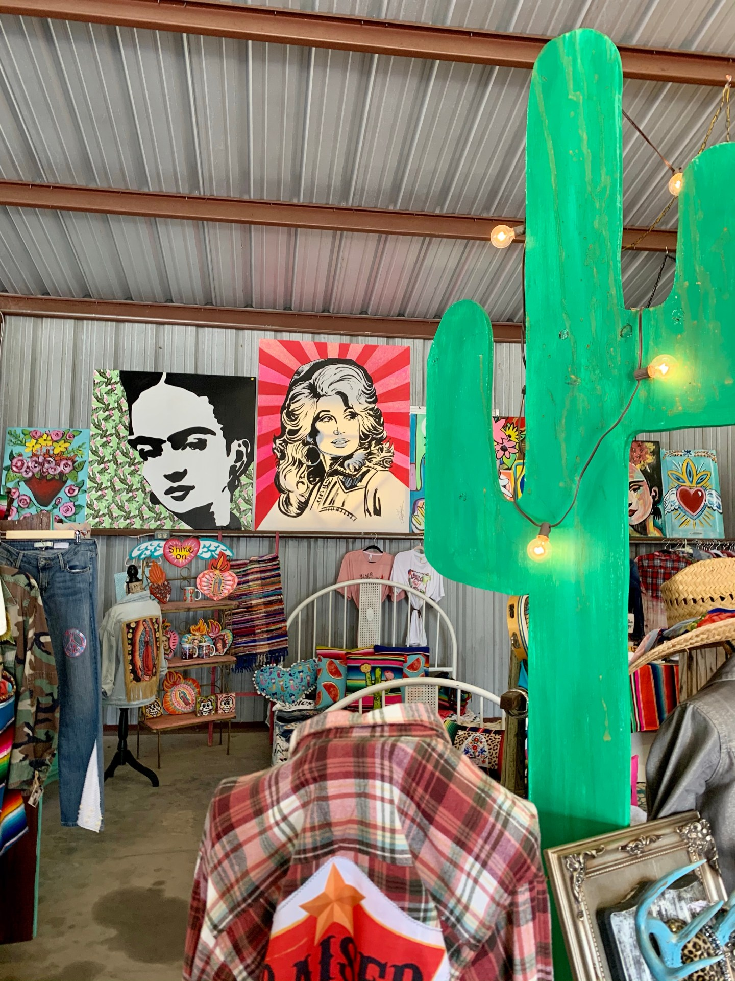 Art for sale at Round Top Antique Week.