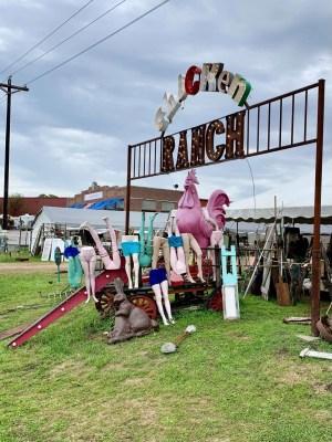 Chicken Ranch at Round Top Antique Week.