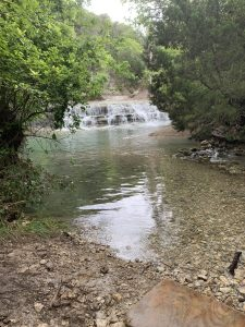 A gorgeous view of Chalk Ridge Falls in Belton, TX.