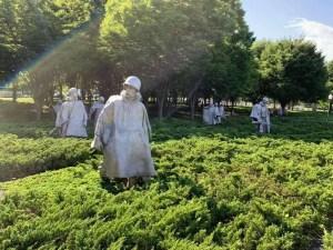 The Korean War Memorial in Washington D.C