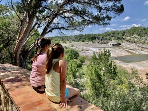 The view from the Pedernales Falls overlook.