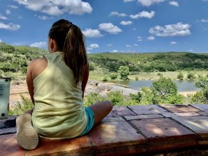 The view from the overlook at Pedernales Falls State Park.