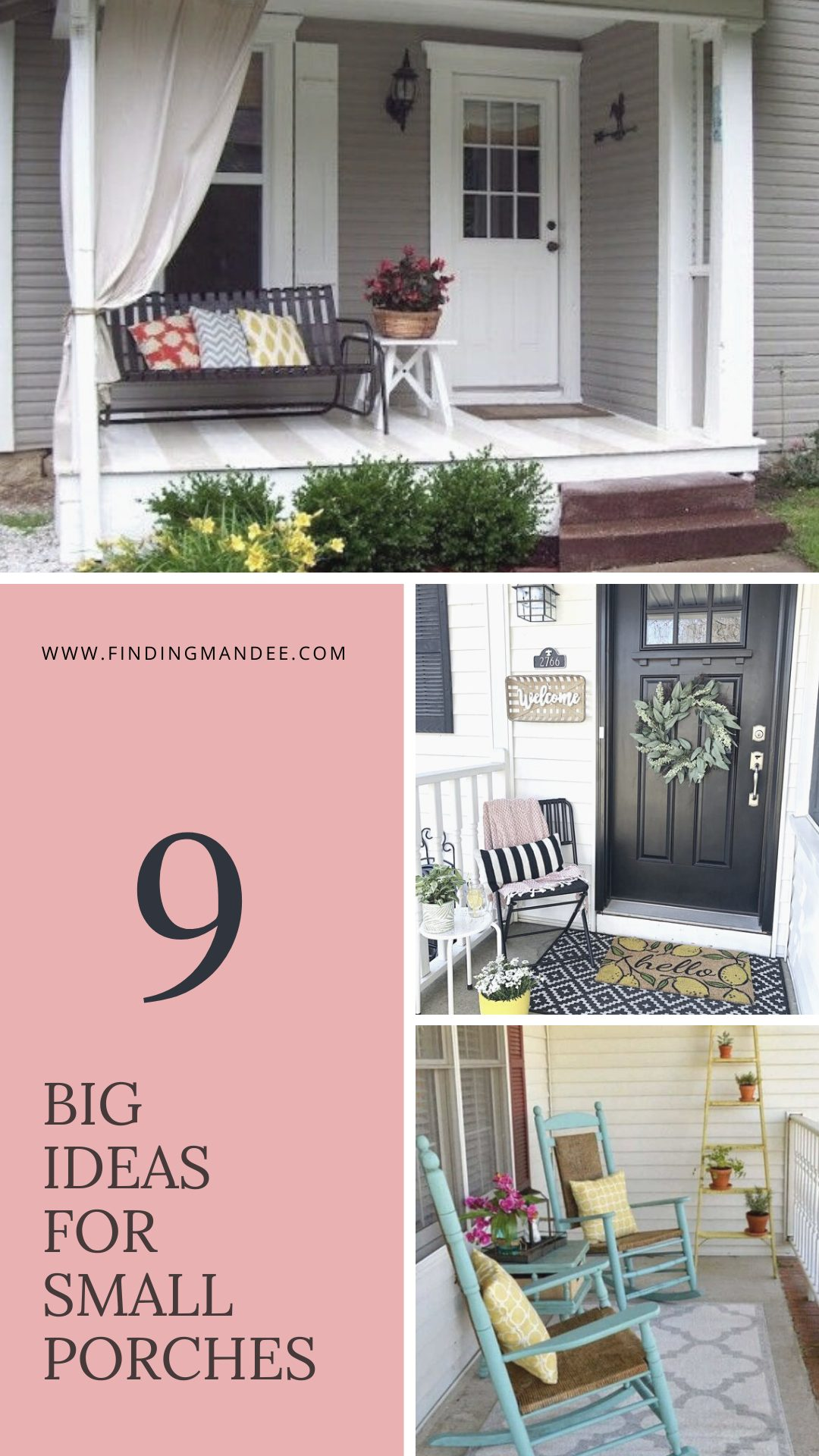 9 Big Ideas for Small Porches | Finding Mandee