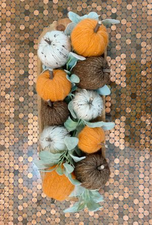 The Dollar Tree pumpkins after.