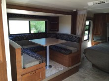 Slideout contains the dinette