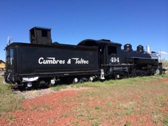Gorgeous locomotive on display