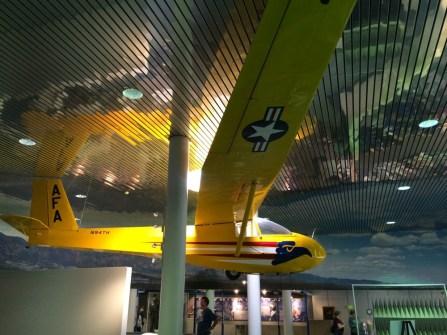 Glider in the visitors center