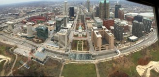 View west over St. Louis