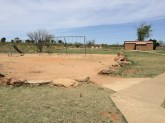 Playground and restrooms/bath house