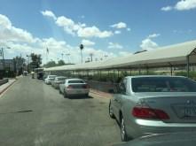 US border crossing - definitely a line