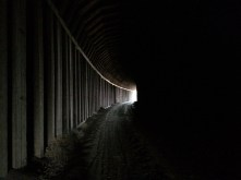 Bat guano covers bottom of Clarity Tunnel