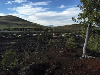 Campground from trail