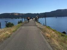 Approaching Chatcolet Bridge