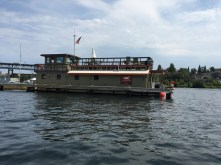 One of the many floating homes on Lake Union