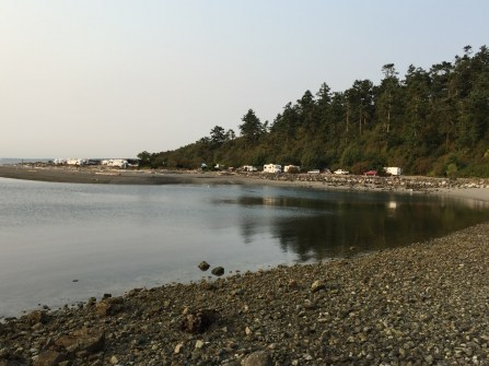 Fort Casey campground from ferry