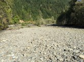 Dry river bed - most likely full in a normal snowpack year