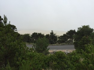 View of beach from lighthouse - trust me, it's there