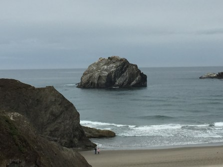 Face Rock (center). Face is on the right gazing up at 2 o'clock.