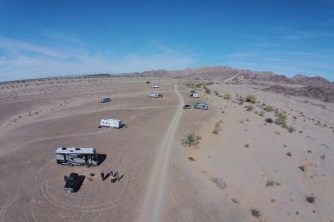 Drone shot showing some of the goup
