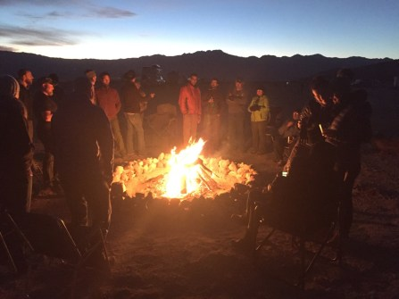 Fire the first night I was there when the group was still small.