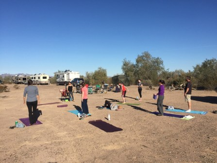 Yoga in the desert? OK!