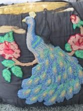 The peacock pillow