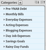 YNAB Categories