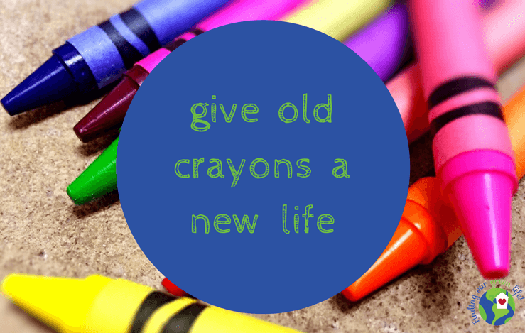 new crayons on a surface