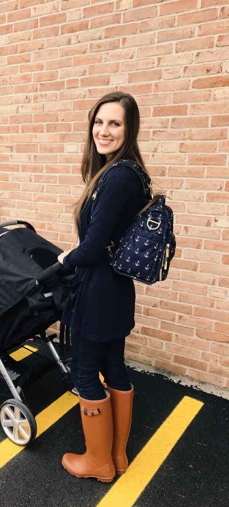 Claire and Diaper Bag